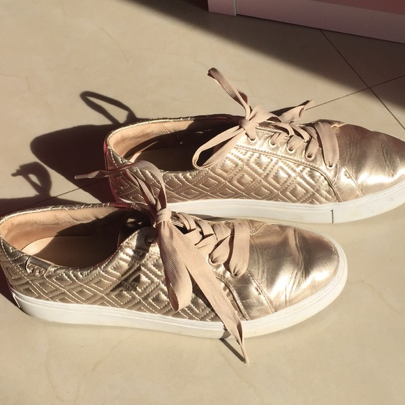Tory Burch Shoes   Rose Gold Quilted